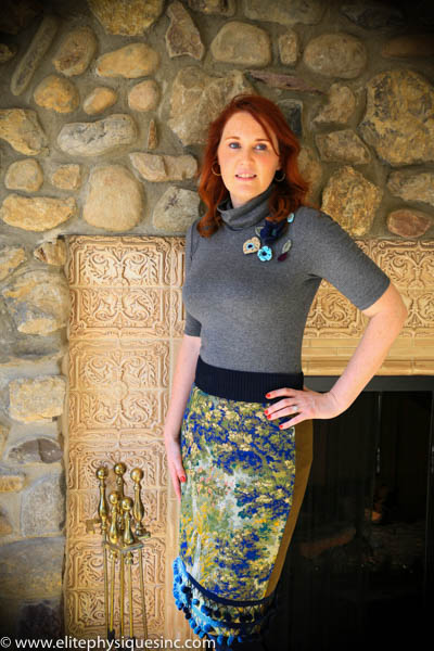Skirt from Anthropologie and crocheted flowers