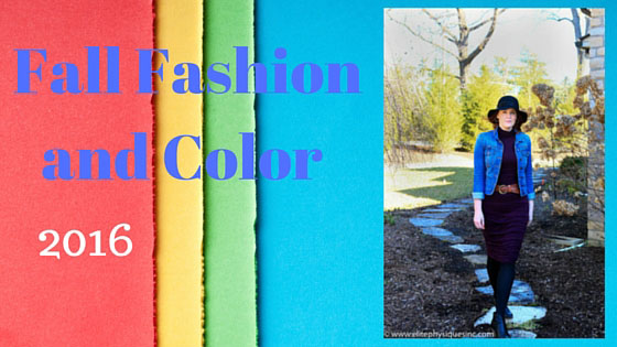 Fall Fashion and Color 2016